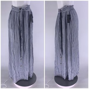 NWT DOWNEAST SKIRT Maxi Long Stripe SMALL